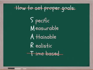SMART goals crossed out