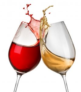 Wine in two wine glasses