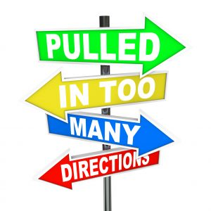 Pulled in Too Many Directions